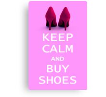 Keep Calm and Buy Shoes Canvas Print