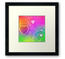 rainbow heart and spiral Framed Print