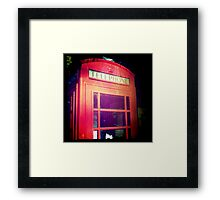 Cambridge Collection: Phone Box Framed Print