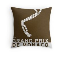 Legendary Races - 1929 Grand Prix de Monaco Throw Pillow