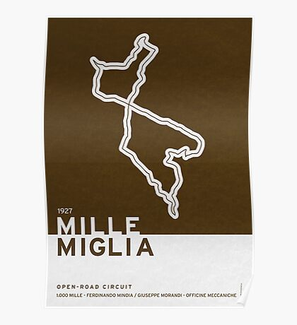 Legendary Races - 1927 Mille Miglia Poster