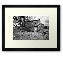 Uther's Shed BW Framed Print