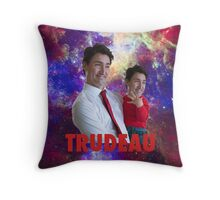 Justin Trudeau Galaxy Throw Pillow