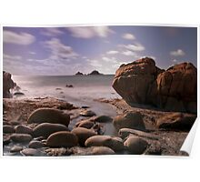 Porth Nanven beach Poster