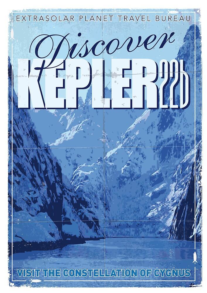 Exoplanet Travel Poster KEPLER 22b by Chungkong