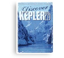 Exoplanet Travel Poster KEPLER 22b Canvas Print