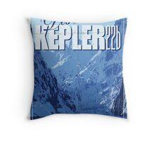 Exoplanet Travel Poster KEPLER 22b Throw Pillow