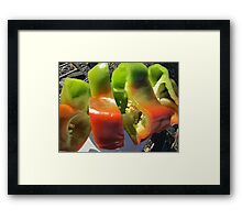 Spicy Slices Framed Print