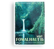 Exoplanet Travel Poster Fomalhaut B Metal Print