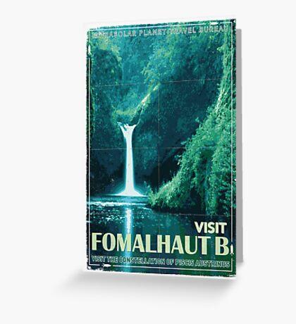 Exoplanet Travel Poster Fomalhaut B Greeting Card