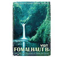 Exoplanet Travel Poster Fomalhaut B Photographic Print