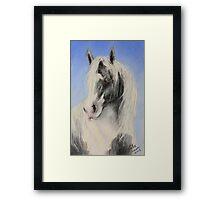 Little Blue & White Gypsy Framed Print