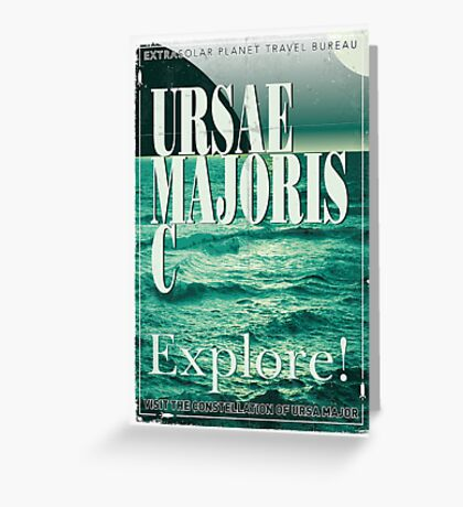 Exoplanet Travel Poster Ursae Majoris Greeting Card