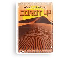 Exoplanet Travel Poster COROT 4 Metal Print