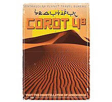Exoplanet Travel Poster COROT 4 Photographic Print