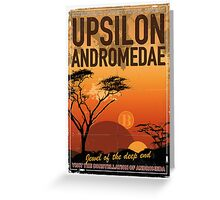 Exoplanet Travel Poster UpsilonAndromedae 4 Greeting Card