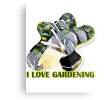 I Love Gardening Metal Print