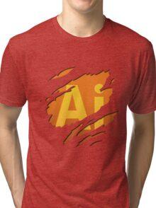 Graphic artist - level : Illustrator Tri-blend T-Shirt