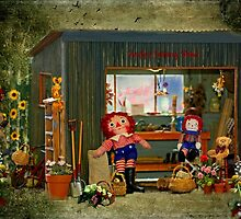 """""""Teddies Visiting Andy's Potting Shed...."""" by Rosehaven"""