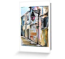 Lampost on Rue Reattu Greeting Card