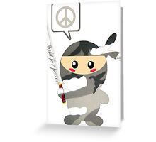 Fight For Peace (snow) Greeting Card