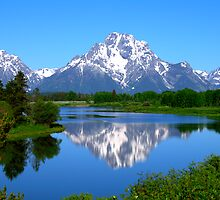 Mount Moran on Snake River - Grand Teton National Park by Brian Harig