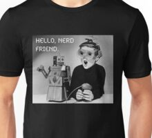 Friendly Robot and Nerd Unisex T-Shirt