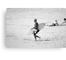 Kelly Slater in black & white Canvas Print