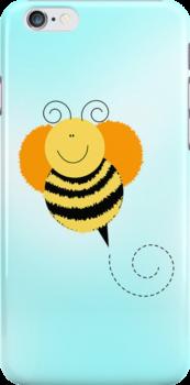 Bee Hop iPhone Case by JessDesigns
