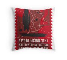 Starship 02 poststamp - Battlestar Galactica  Throw Pillow