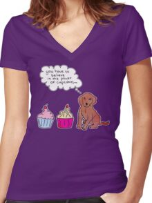 Cupcake Power Women's Fitted V-Neck T-Shirt