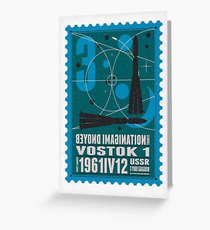 Starship 03 - poststamp - Vostok Greeting Card