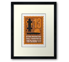 Starship 13 - poststamp - Space1999  Framed Print