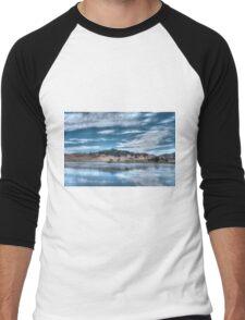 Blue Landscape Men's Baseball ¾ T-Shirt