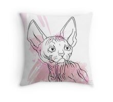 The Naked One Throw Pillow