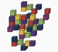 Cubes One Piece - Short Sleeve