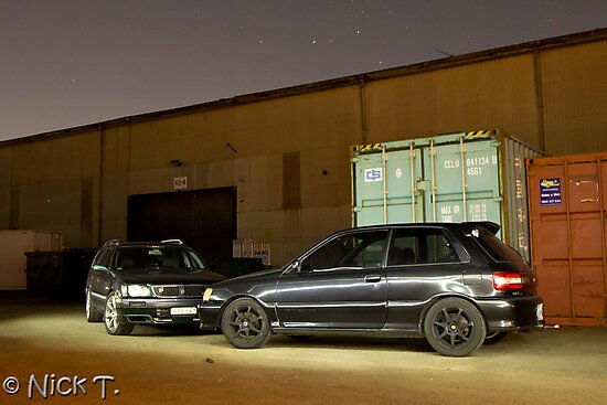 Stagea and Starlet by GoldZilla