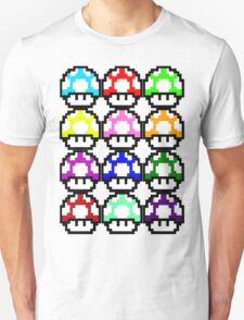Multi-coloured Mushrooms Unisex T-Shirt