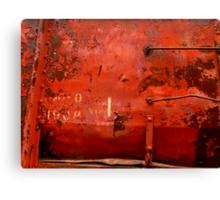 Box Car Rusty Grunge Canvas Print