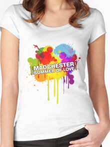 Madchester T-shirt Women's Fitted Scoop T-Shirt