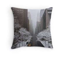 New York - Yellow cab on the 42nd street Throw Pillow