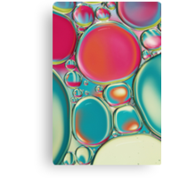 Retro Coloured Oil & Water Drops Canvas Print