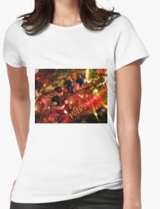 Officers Christmas II Womens Fitted T-Shirt