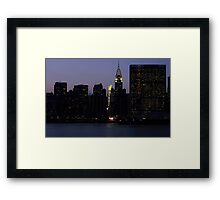 VIEW FROM LONG ISLAND CITY TO THE UNITED NATIONS Framed Print