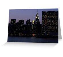 VIEW FROM LONG ISLAND CITY TO THE UNITED NATIONS Greeting Card