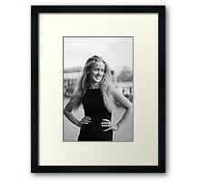 The smile of a dancer Framed Print