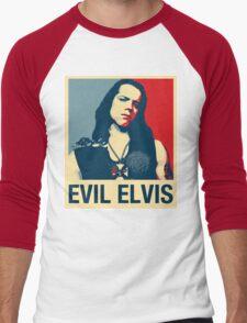Evil Elvis Men's Baseball ¾ T-Shirt
