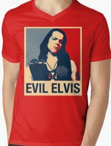 Evil Elvis Mens V-Neck T-Shirt