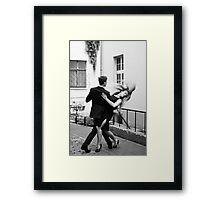 Two dancers Framed Print