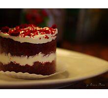 red velvet cake Photographic Print